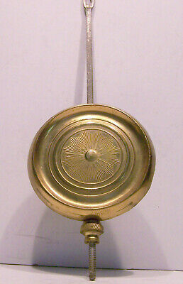 Antique brass clock pendulum