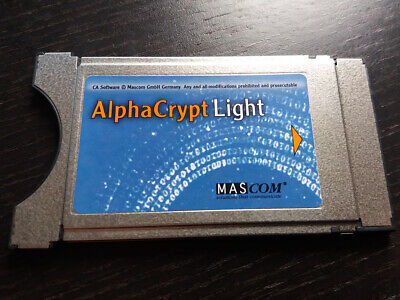 Mascom Alphacrypt Light All4One Sat Kabel CI CI+ Modul Vers. R2.2 einsatzbereit