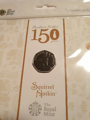 2016 Uk 50 Pence..b/Unc..squirrel Nutkin..royal Mint Sealed