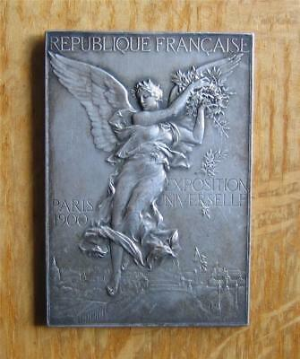 Silver Plated Winner's Medal Plaque 1900 Olympic Games / Paris Expo by Vernon
