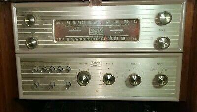 Vintage Ampex Tube Preamplifier Preamp & Matching FM AM Tuner Rare Telefunken