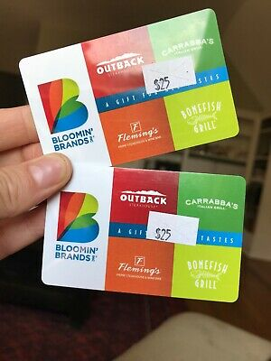 $50 Bloomin' Brands Gift Card! Outback Steakhouse Fleming's Bonefish Carrabba's