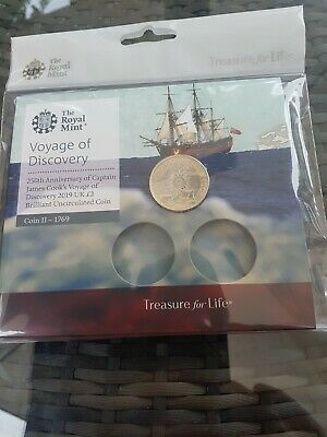 Royal Mint Captain Cook £2 Coin Coin 2 Of Set Of 3 Sealed(New)
