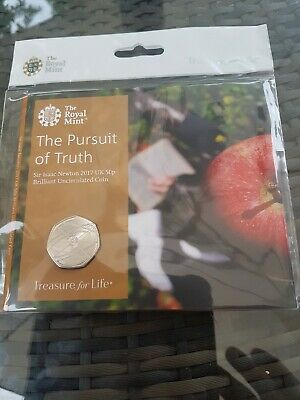 Royal Mint The Pursuit Of Truth Sir Isaac Newton 50P Uncirculated Coin(New)