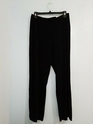 NWT Coldwater Creek Women's Travel Knit Holly Pants Black Petite.Size 14/P Large