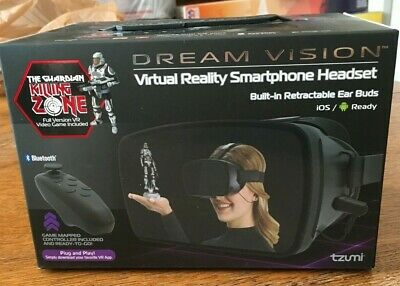 VR Dream Vision Virtual REALITY Headset ear buds: Killing Zone game NEW