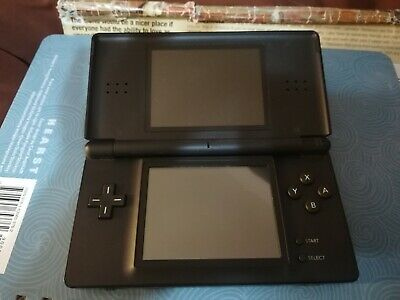 Nintendo DS Lite Console Black w/Stylus & Brain Age 2 game. Console & game only