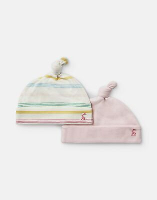 Joules Baby Koo 2 Pack Jersey Hats in SOFT PINK