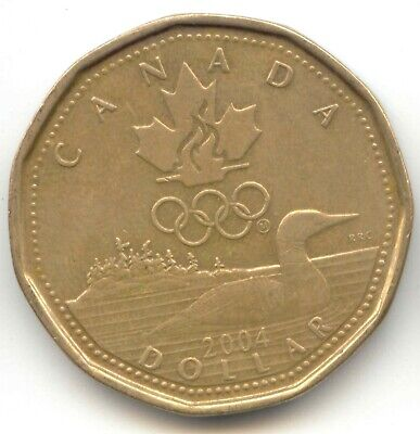 Canada 2004 Loonie Olympic Commemorative Canadian One Dollar $1 1 EXACT COIN