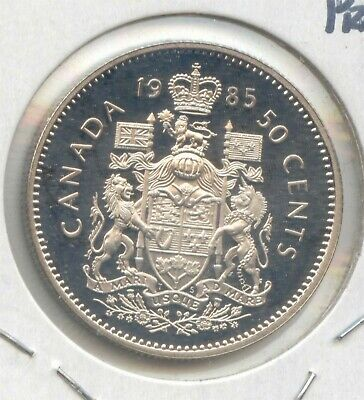 Canada 1985 Frosted Proof Unc 50 Cent Piece Canadian Half Dollar EXACT COIN