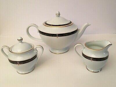 Wedgewood Embassy Collection Whitfield Fine China Tea Pot Creamer Sugar Bowl
