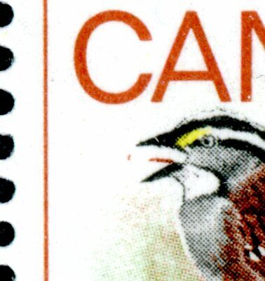 Weeda Canada 496i VF MNH PBs of 20, 'Flycatcher' variety at pos. 41 CV $79.50