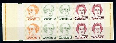 Weeda Canada BK76 VF MNH complete BK, centre perfs shifted up drastically