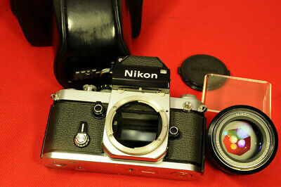 Nikon F2 outfit with camera, DP-1,  Nikkor 50mm f/1.4 lens and case, very clean