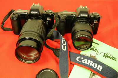 Canon EOS Rebel X camera sets in excellent condition, 2 bodies, 2 lenses, more