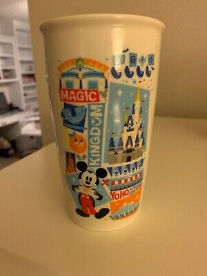 Starbucks Magic Kingdom Mickey Ceramic Tumbler Travel Mug Disney Parks 2018