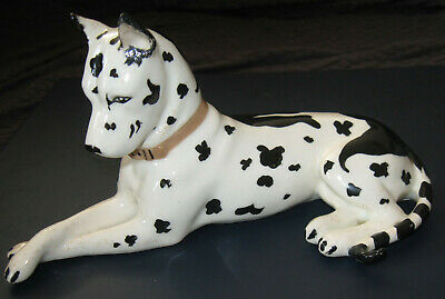 Vintage Erphila Harlequin Great Dane Dog Porcelain Figurine Germany 7""