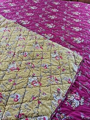 "Gorgeous! Revisable French Country Vintage Inspired Quilt 94"" X 84"""