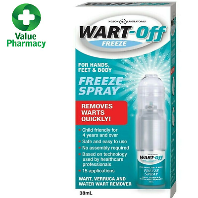 New Wart Off Freeze Spray 38ml for Hands Body & Feet Quick Wart Remover