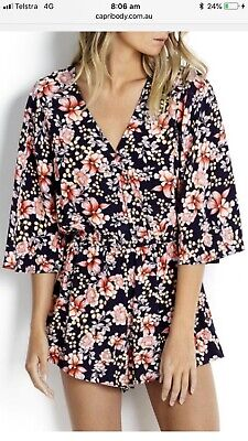 Seafolly Nouveau Floral Playsuit XL RRP $160
