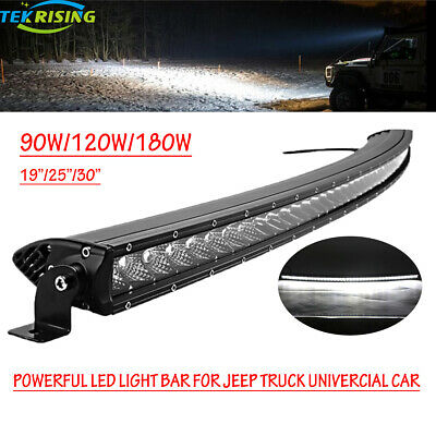 Slim 30Inch Single Row Cree Curved LED Light Bar Combo Off road Truck ATV Ford