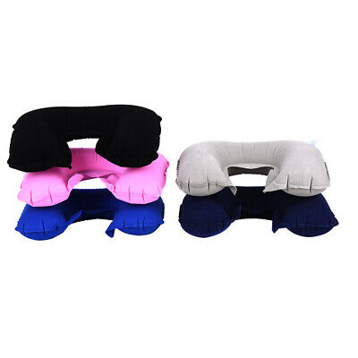 U Shaped Travel Pillow Inflatable Neck Car Head Rest Air Cushion for Travel E&F