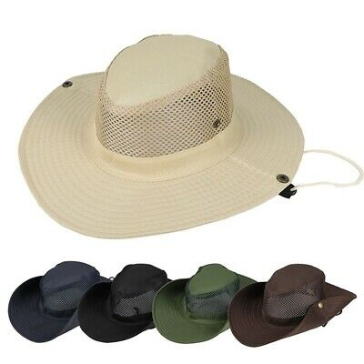 Mens Bucket Hat Boonie Wide Brim Sun Cap Military Outdoor Fishing Hunting Hats