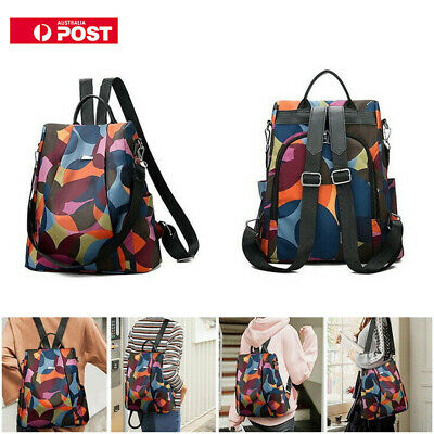Womens Oxford Cloth Backpack Anti-theft Daypack Travel  Casual Shoulder Bag 2019