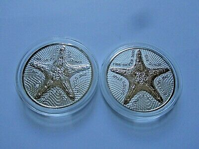 Cook Islands 2019, Silver Star, 1 x 1 oz ERROR COIN, 1 x 1 oz Regular Coin