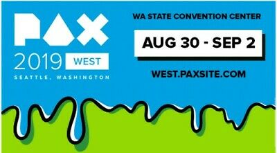 PAX West 2019 4-Day Badge (Fri, Sat, Sun, Mon) Free Shipping!