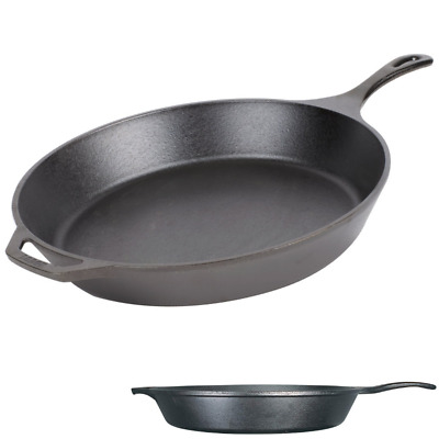 Large Cast Iron Pan 15 Inch LODGE Fry Skillet Pizza Pan Pancakes Eggs Frying
