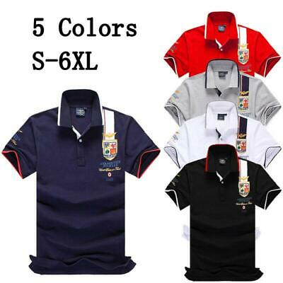 5 Colors New Hot POLO shirts MANICA CORTA UOMO DONNA ELEGANTE T-shirt Size S~6XL