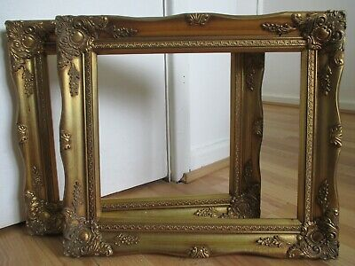 Pair of Ornate Antique Style - Gilt Foliage Frame for Picture - Painting etc