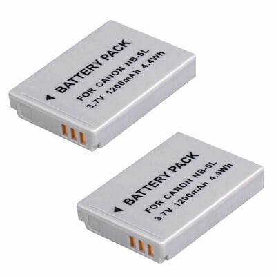 2 x Battery NB-5L For Canon NB-5L Powershot SX200 IS SX210 IS SX220 HS SX230 UK