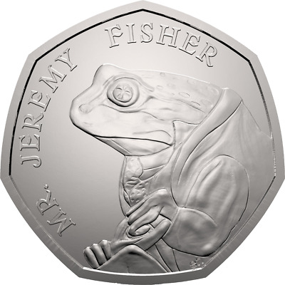 RARE 50p PENCE COIN - 2017 - BEATRIX POTTER COLLECTION - MR JEREMY FISHER