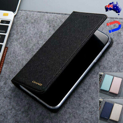 For iPhone 6S 7 8 Plus Xs Max Xr Case Magnetic Flip Leather Wallet Cards Cover