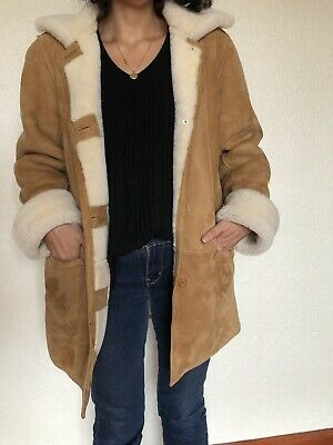 vintage sheepskin jacket Mill Valley Sheepskin And Leather Co Size 8