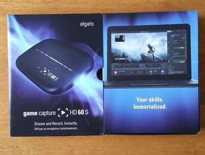 ELGATO GAME CAPTURE HD60S FOR PLAYSTATION * XBOX * Wii U * TWITCH * YOUTUBE * 4K