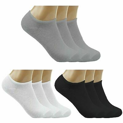 Mens Summer Cotton Rich Ankle Sports Socks Womens Trainer Thick Low Cut Socks
