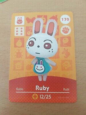 animal crossing new leaf welcome  amiibo card  ruby  170