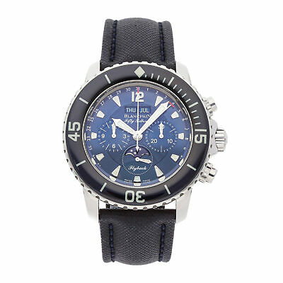 Blancpain Fifty Fathoms Chronograph Chrono Auto Steel Mens Watch 5066F-1140-52B
