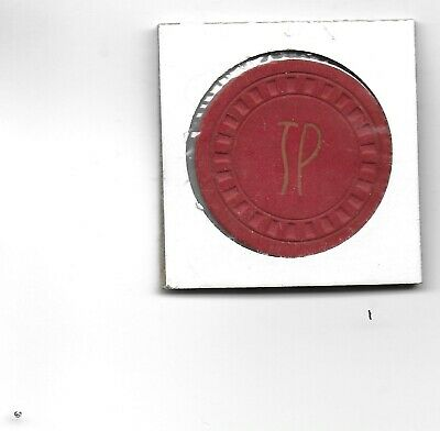 New Find .25 Cent Illegal Casino Chip TP (TOWN PUMP)-Whitefish, Mt.-1946 Issue