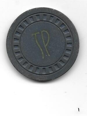 New Find .$1.00t Illegal Casino Chip TP (TOWN PUMP)-Whitefish, Mt.-1946 Issue