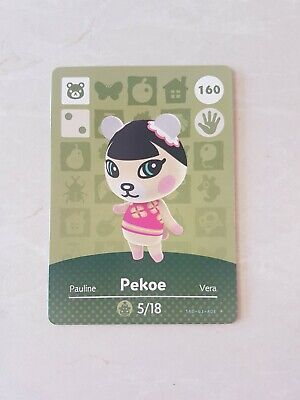 animal crossing new leaf welcome  amiibo card pekoe 160