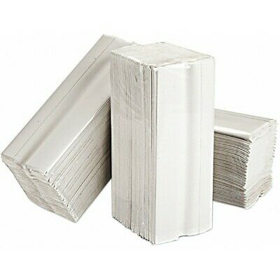 SAPPHIRE 2 Ply White C-Fold Paper Hand Towels - 15 Packs of 160 Sheets CWT24002
