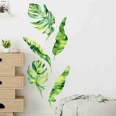 Summer Tropical Green Plants Leaves Wall Sticker Vinyl Decals Home Wall Decor