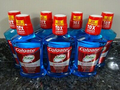 7 Colgate Total 12hr Whole Mouth Health PEPPERMINT Alcohol Free Mouthwash 16.9oz