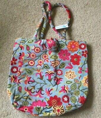 Floressents girls bag NWT multicoured blue velvet feel