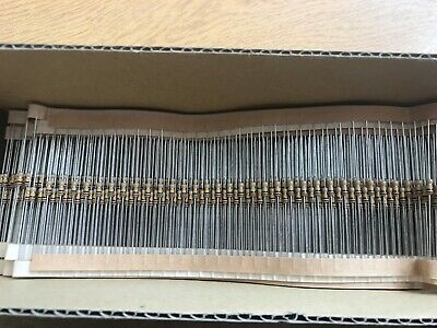 Part box carbon film resistors 1/4W  5% 100K approx 500pcs HU356