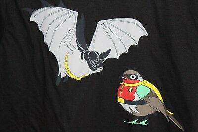 Men's Small Black D.c. Comics/batman/robin Spoof Graphic T-Shirt-  Nwt